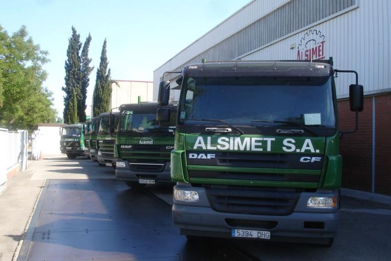 Imagen flota camiones Alsimet