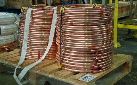 Tubo de cobre sanitario